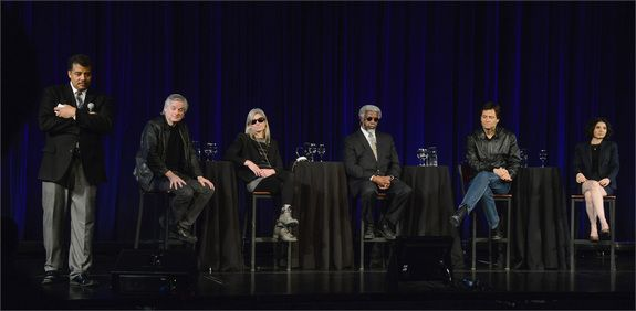 On April 5, Neil deGrasse Tyson led the five panelists in a discussion about what being in a simulation would mean — and how humans could tell. Tyson poses next to panelists David Chalmers, Lisa Randall, James Gates, Max Tegmark and Zohreh Davoudi.