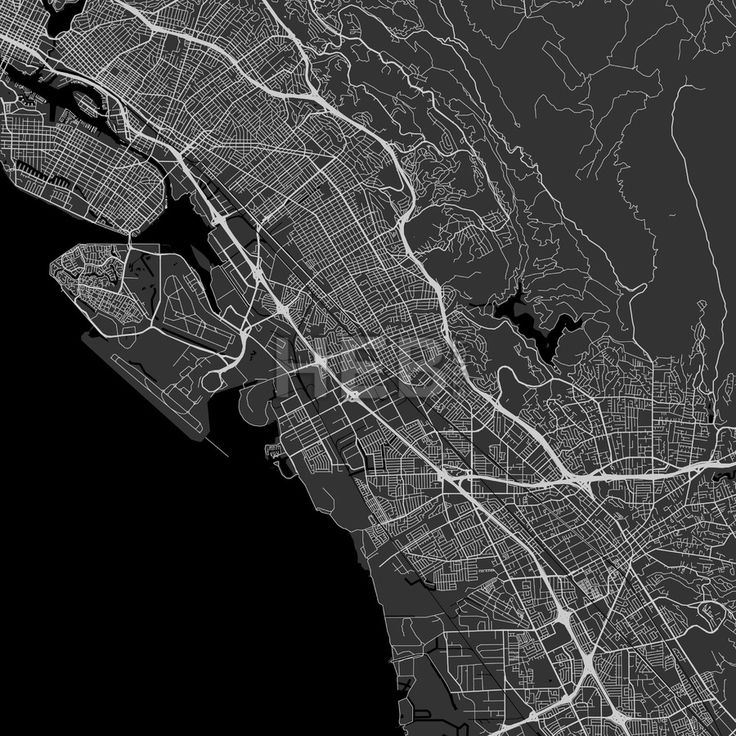 San Leandro downtown and surroundings Map in dark version with many details for high zoom levels. This map of San Leandro contains typical landmarks w... ... #map #download #citymap #areamap #usa #background #clean #city #area #modern #landmarks #ui #ux #hebstreit