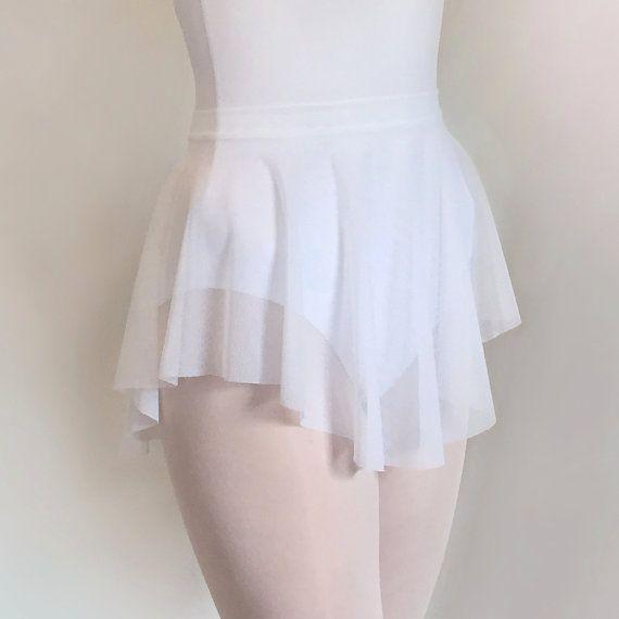 SAB skirt   Classic White Ballet Skirt Sheer Stretch Mesh by RoyallDancewear