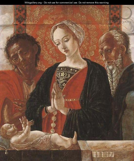 Antonio Leonelli di Crevalcore ( scuola Ferrarese) - Sacra Famiglia con san Giovanni Battista - 1490-1500 - Pinacoteca Nazionale di Bologna
