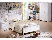 Bett in weiß + Lattenrost 120x190 Serie PRINCESS