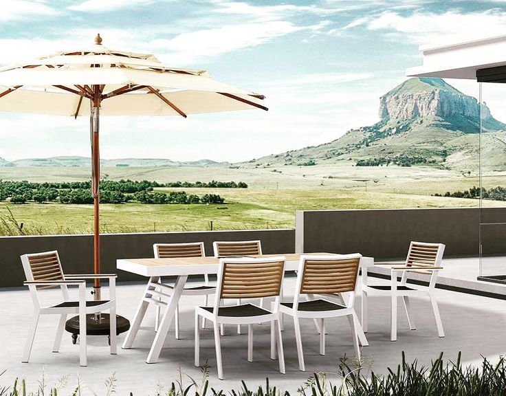 Dining table 6 seaters #nothingbutstyle #outdoorliving #outdoording #outdoordesign