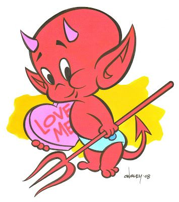 Vintage Cartoon. Hot Stuff The Little Devil. Has a special meaning because my Dad has him as a tattoo!
