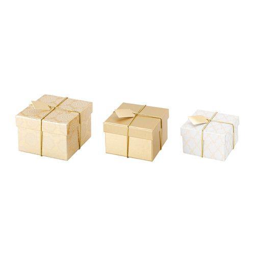 IKEA - ВИНТЕР 2015, Коробка подарочная,3 штуки