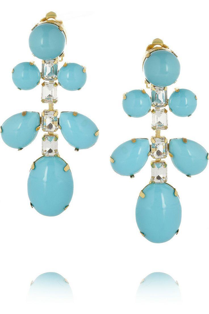 Kenneth Jay Lane Kenneth Jay Lane Woman Gold-tone Cord Earrings Blue Size F4QYEzp