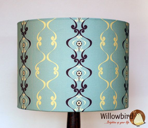 New Retro Lamp Shade 30cm Regency wallpaper design by willowbird60