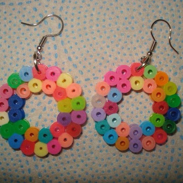Earrings hama beads by leandrosantospaiva Iconosquare