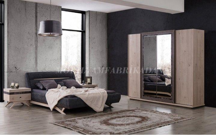 Floria yatak odasında Mermerin şıklığı ahşap ile bütünleşti.#mobilya #inegöl #dekorasyon #modern #tasarım #yatak #oda #ceviz #mermer #lacivert #yaşam #dekor