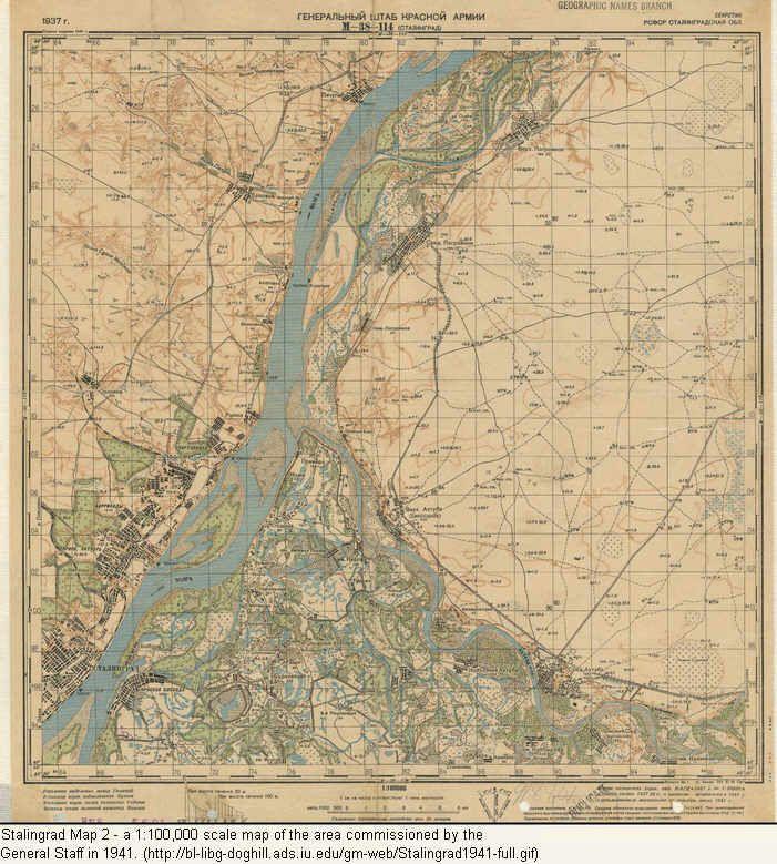 Stalingrad: Soviet Staff Map 1941