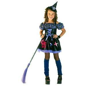 Μάγισσα Punk στολή για κορίτσια με καρό φούστα