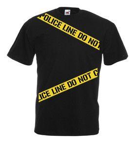 £9.99 Police Line Do Not Cross TShirt S/M/XL/L/2XL/3XL/4XL/5XL Halloween Fancy Dress #Halloween #Tshirt # Police
