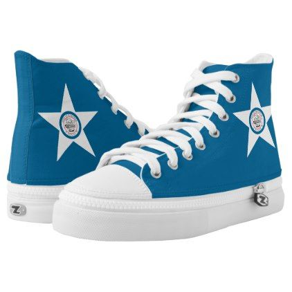 #Flag of city of Houston Texas High-Top Sneakers - #womens #shoes #womensshoes #custom #cool