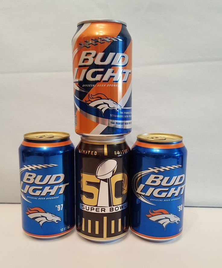 X4 Sealed Denver #Broncos Bud Light Cans 97 98 Super Bowl 50 from $11.0