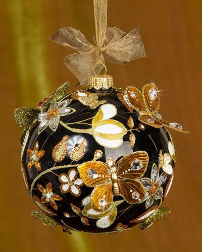 239 best BUTTERFLIES DRAGONFLIES ON CHRISTMAS BALLS images on