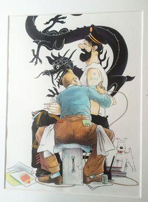 Hergé (et Tintin) au Grand Palais - Evous