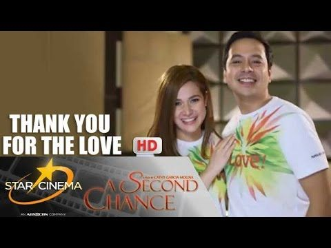 """This is the handsome John Lloyd Cruz (Popoy) and the pretty Bea Alonzo (Basha) stars of the film, A Second Chance, singing the chorus of the ABS-CBN 2015 Christmas Station ID theme song, """"Thank You for the Love!"""" Indeed, John Lloyd and Bea are thanking every Kapamilya for the love. #JohnLloydCruz #BeaAlonzo #PopoyandBasha #ASecondChance #ABSCBNChristmasStationID #ThankYoufortheLove"""