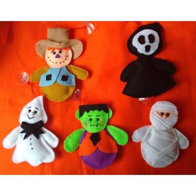 Muñecos Fieltro Halloween - $ 25.00 en MercadoLibre