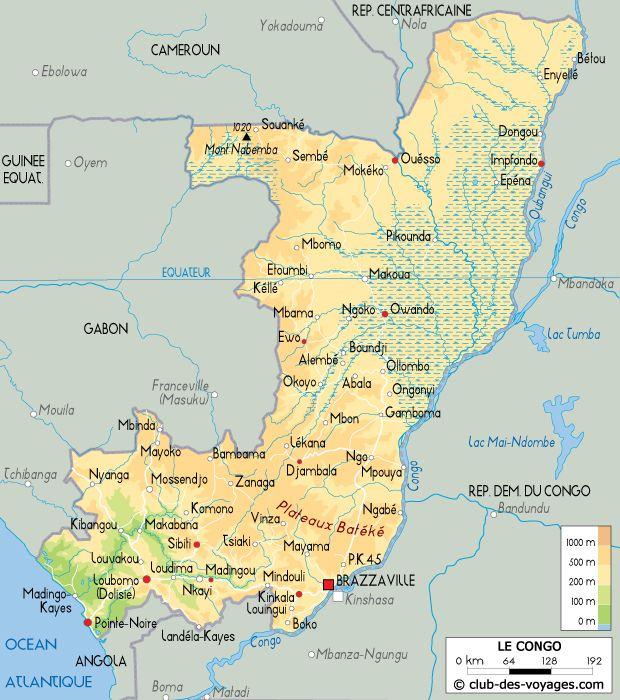 cartographie de la république du congo Brazzaville