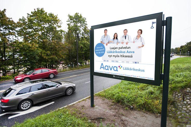 Pennanen Design / J & Co Digital - Biglight advertising for Lääkärikeskus Aava.