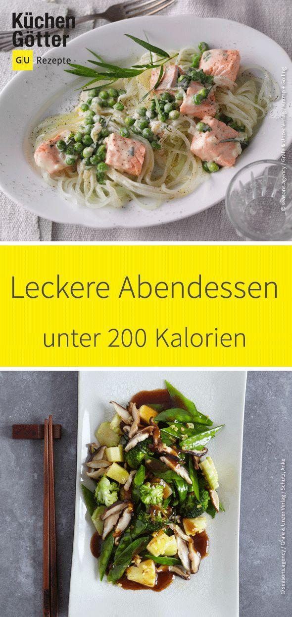 Wir haben dir leckere Rezepte für die leichte Küche am Abend zusammengestellt. Wir zeigen dir leichte Abendessen unter 200 Kalorien.