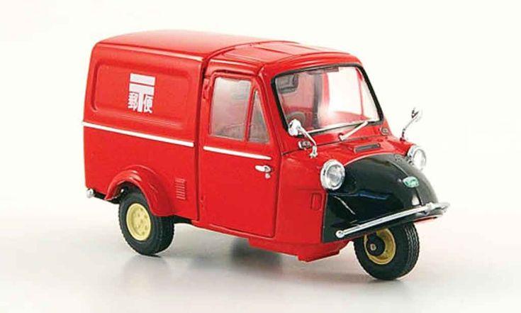 Daihatsu Midget Kasten Post red black 1961 Ebbro diecast model car 1/43 - Buy/Sell Diecast car on Alldiecast.us