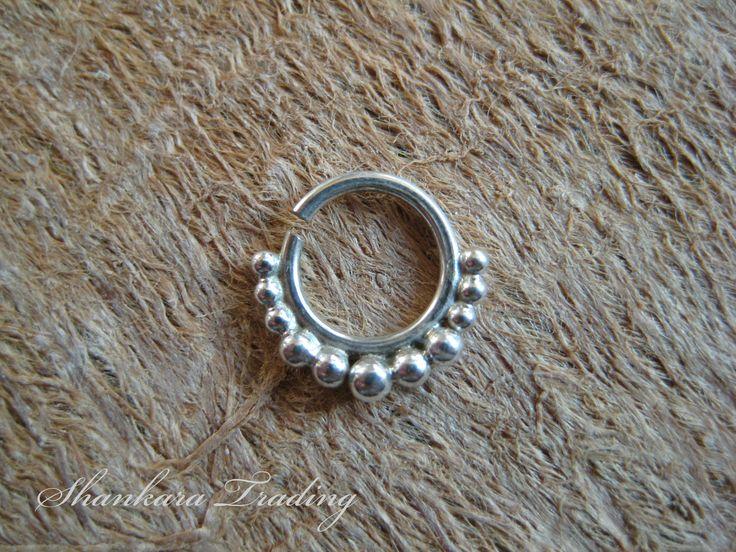 Septum Ring, Sterling Silver Septum Ring