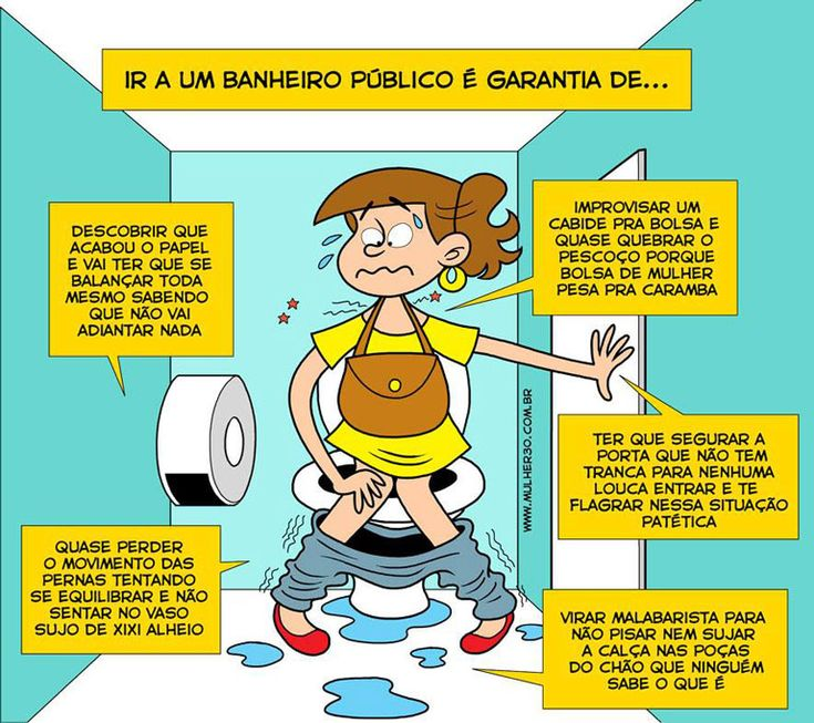As garantias de um banheiro público... São mínimas!...