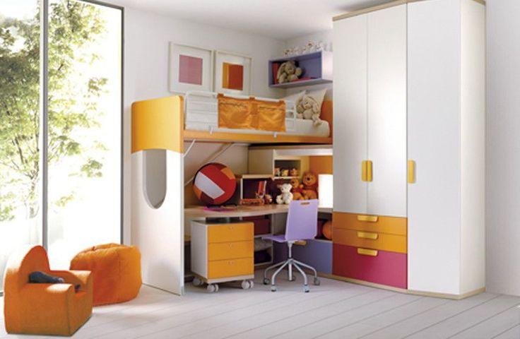 Einzelbett / Hoch / modern / mit Schreibtisch 939 Doimo Cityline