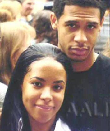 Aaliyah with her brother Rashad