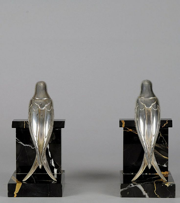 Art deco Bookends Marble