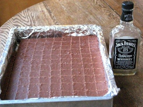 Whiskey fudge someone will eat this and get a buzz