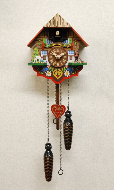 クォーツ式鳩時計一覧 :: 税抜30,000円未満のオススメ鳩時計 :: クォーツ式鳩時計 チロルの山小屋 415QM - 鳩時計専門店 森の時計 | ハト時計 | 販売 | 通販 | 修理 | 東京 | ドイツ | スイス
