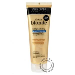 Sarı saçlarınızdaki ışıltıyı ortaya çıkarın.Sarı tonlarda saçlara sahip kişilerin % 70'i; kimyasal işlemler ve ısı veren saç şekillendiricilerinden dolayı kuru ve yıpranmış saçlara sahiptir. Bu sebeple yıpranan sarı saçlar parlaklığını ve ışıltısını yitirmektedir. Sizde sarı tonlardaki saçlarınızı Bal, Karamel ve Buğday'ın tatlı dokunuşuna emanet edin.    Satın Almak İçin: http://www.narecza.com/john-frieda-sheer-blonde-koyu-sari-saclar-icin-sampuan-urun3203.html