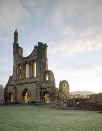 Byland Abbey, North Yorkshire - English Heritage. Open Thursday to Monday, April to October, and weekends only, November to March