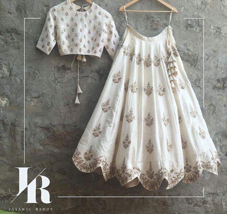 Indian fashion # Indian weddings -# love for white # Jayanti reddy # lehenga # tassels