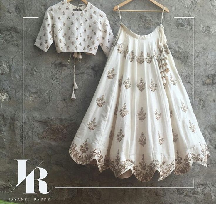 Beautiful cream n beige Lehenga n Choli with tassels, by #Jayanti_Reddy. via @topupyourtrip