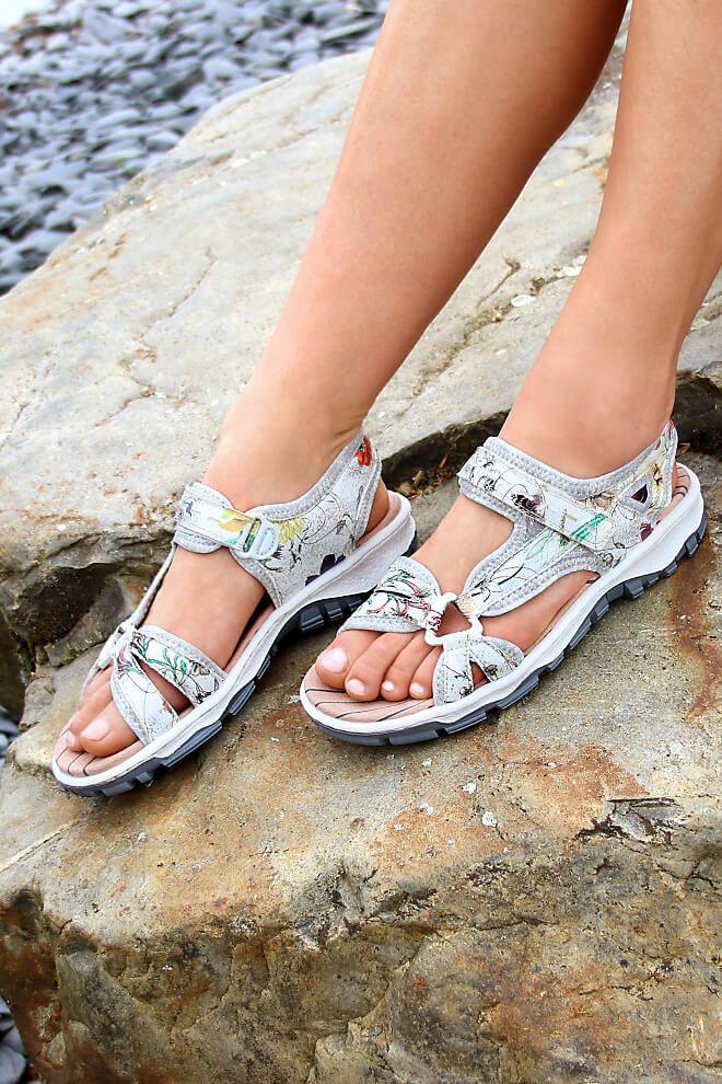 Rieker Damen Sandale Multi 68879 90 Trekking Sandalen Sandalen Schuhe