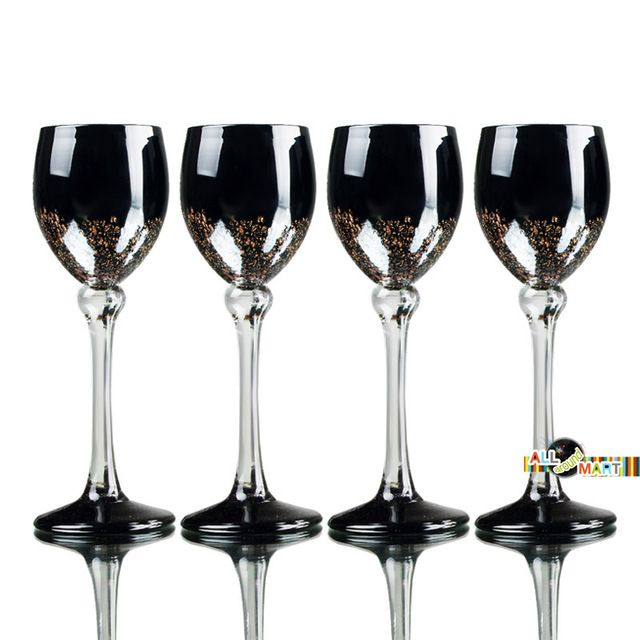 S Gold Inlay Champagne Glasses