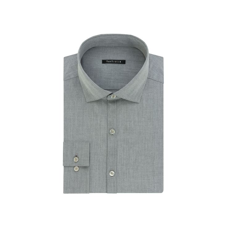 Big & Tall Van Heusen Flex Collar Slim Tall Dress Shirt, Men's, Size: 18.5 37-38, Grey Other