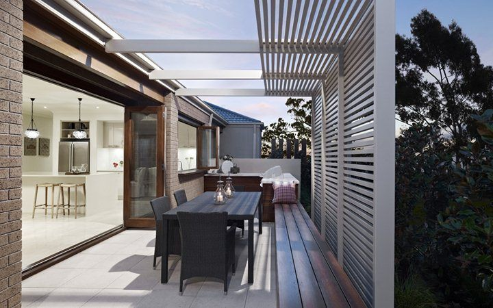 outdoor timber slats