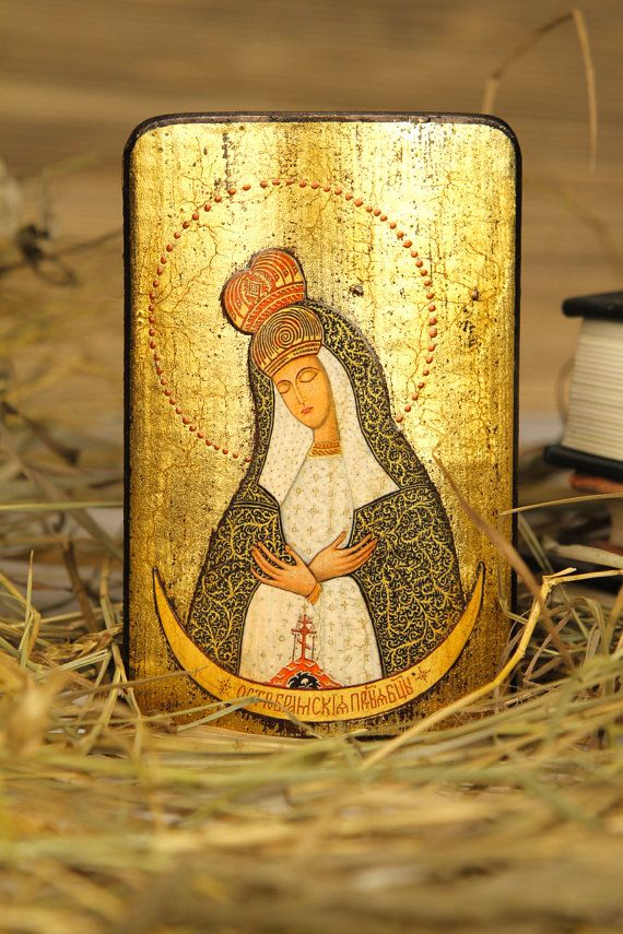 Our Lady of the Gate of Dawn - paint iconography art orthodox catholic religious gift for parents godparents grandparent family