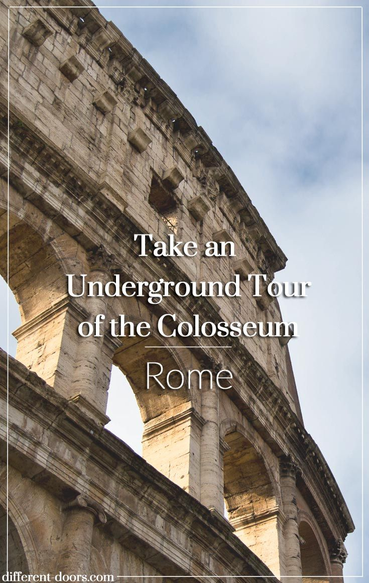 So much to discover in the Colosseum Underground in Rome, Italy