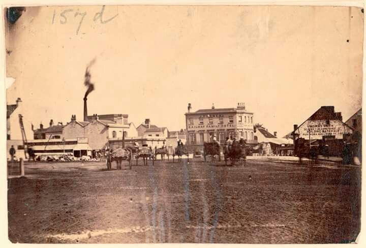 George St South,Sydney in 1872.