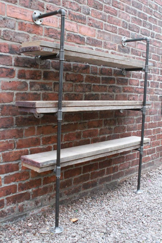 Reclaimed Scaffolding Boards and Steel Pipe by inspiritdeco, £495.00