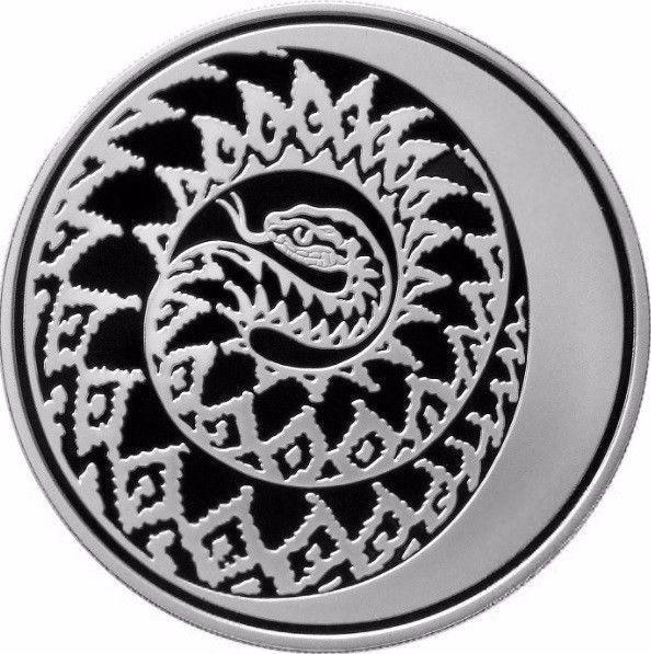 Russland 2013 3 Rubel Schlangenserie Der Mondkale Der