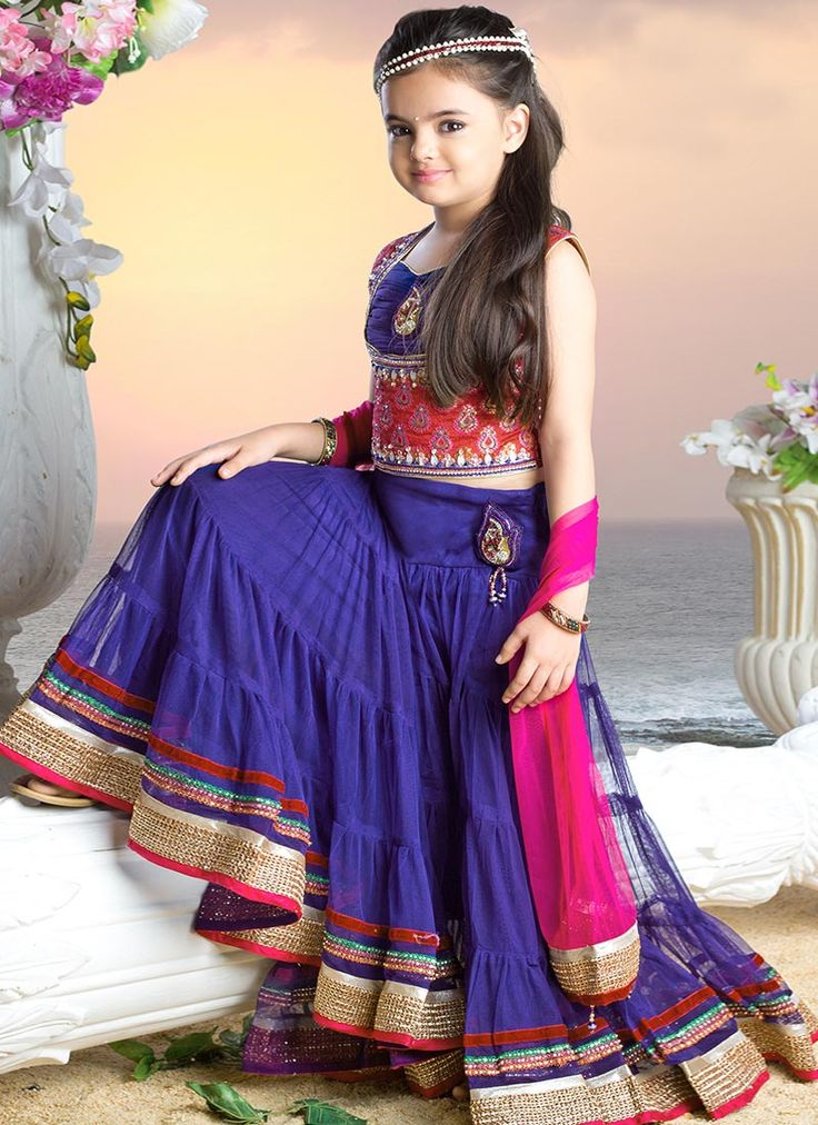 Purple Ruhanika Dhawan Kids Lehenga Choli Indian Style