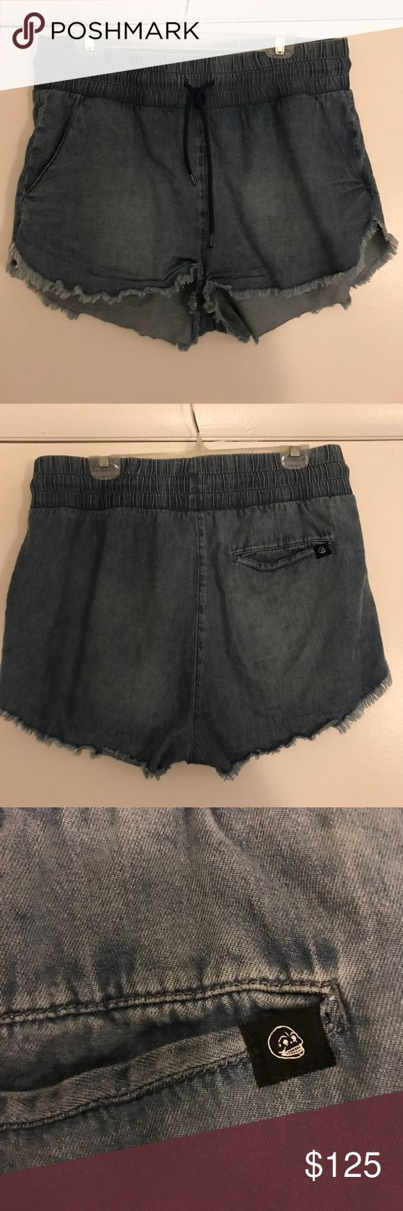 Cheap Monday Dolphin Hem Denim Shorts 🐳 Cheap Monday MEGA COMFY shorts with raw hemline and dolphin cut hem for effortlessly adorable  look. In perfect condition. Elastic waistband is super flattering plus elastic so, flattering in any occasion.  💁🏻🍟🎡🍕🏝 ***shorts are actually much lighter wash than photos appear*** Cheap Monday Shorts Jean Shorts