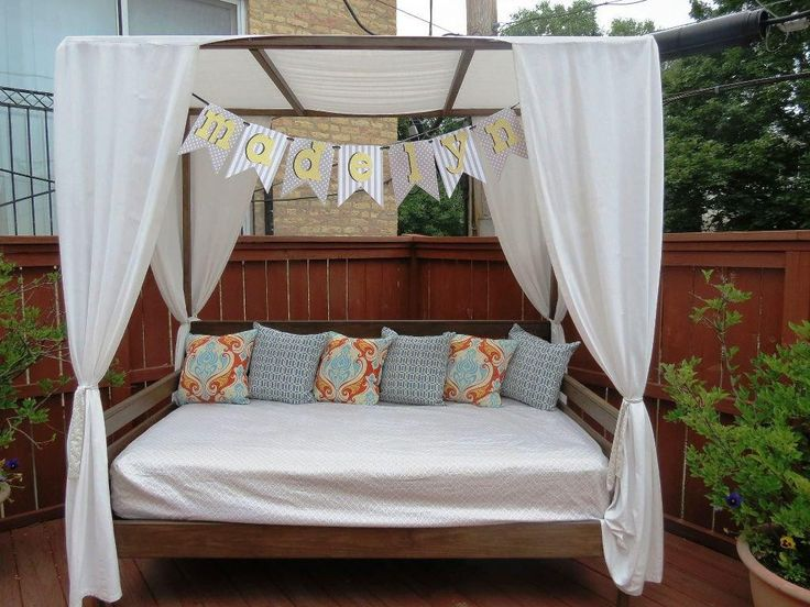 Modern Outdoor Daybed With Canopy For Unique Patio Furniture Design: Outdoor  Furniture Daybed | Outdoor