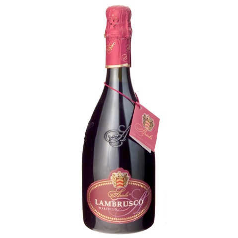 """Lambrusco Gran Cru Marcello is """"the best red sparkling wine in the world"""" (International Wine Challenge of London - 2011) - $8.58"""