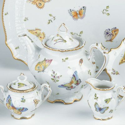 Herend Spring in Budapest tea set, hand painted porcelain